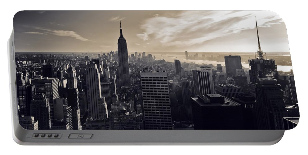 New York Portable Battery Charger featuring the photograph New York by Dave Bowman