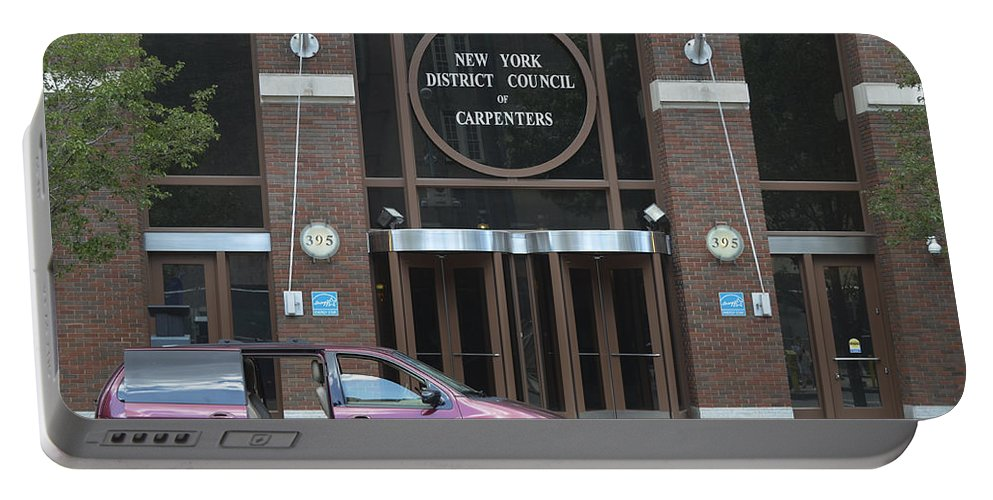 New York Portable Battery Charger featuring the photograph New York District Council Of Carpenters by Erik Burg