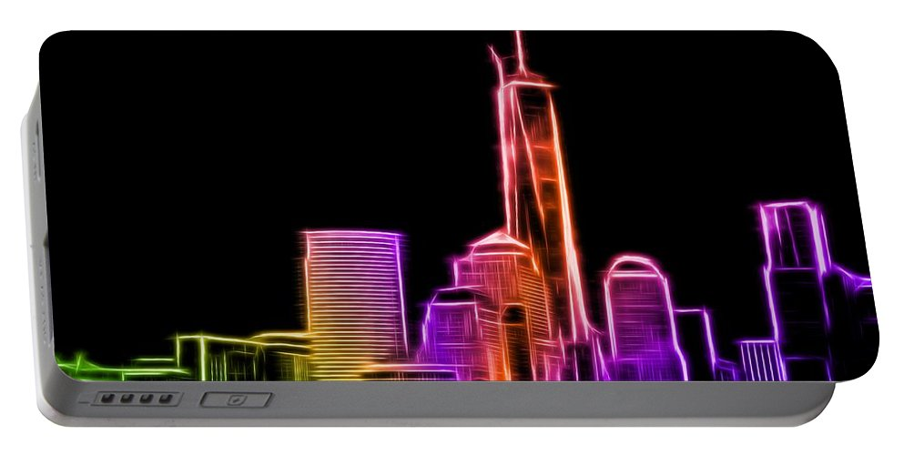 New York Portable Battery Charger featuring the photograph New York Skyline by Aaron Berg
