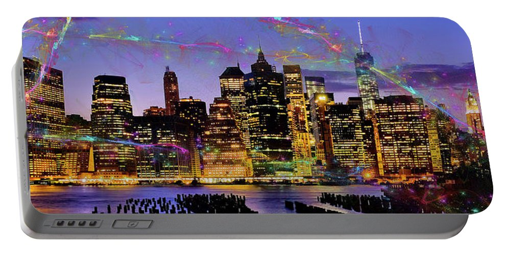 Urban Skyline Portable Battery Charger featuring the photograph New York Skyline by Dorival Moreira