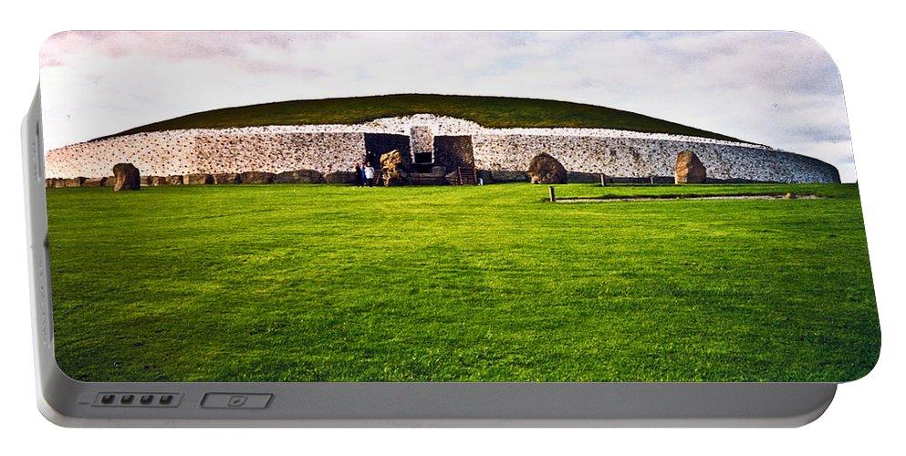 Newgrange Portable Battery Charger featuring the photograph Newgrange Morning by Douglas Barnett