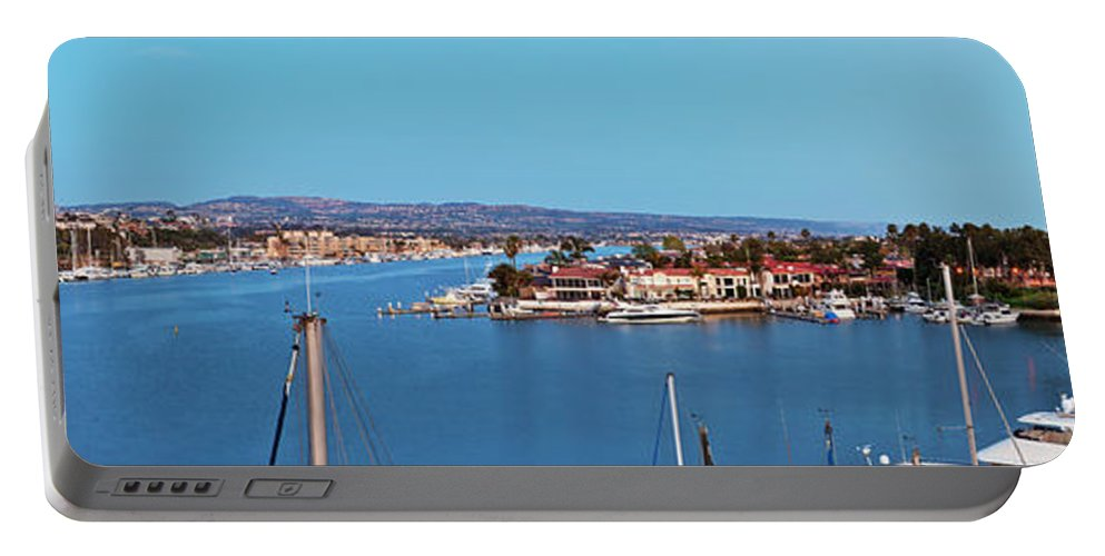 Newport Beach Portable Battery Charger featuring the photograph Newport Beach Harbor At Dusk by Kelley King