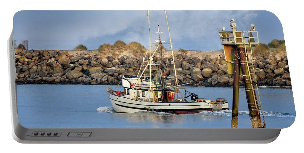 Newport Portable Battery Charger featuring the photograph Newport Oregon - Coastal Fishing by Image Takers Photography LLC - Carol Haddon