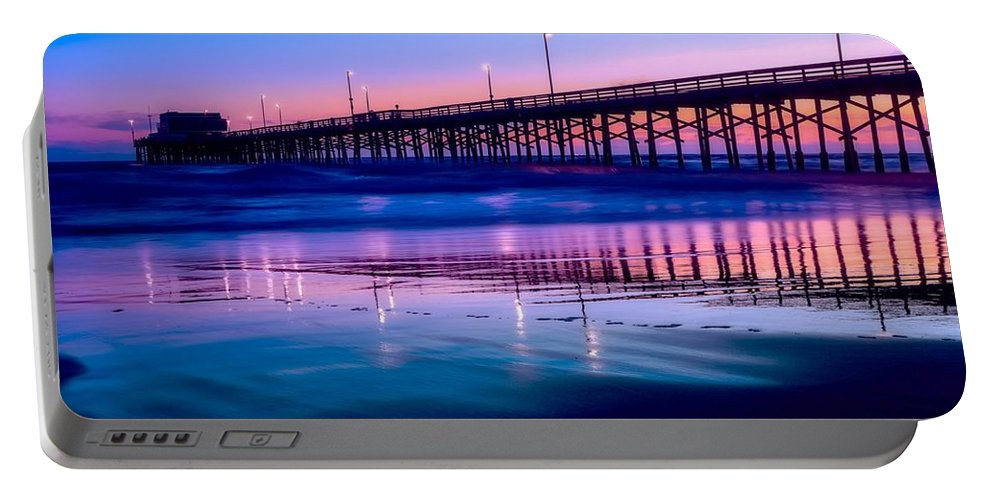 Newport Portable Battery Charger featuring the photograph Newport Sunset by Dawn Van Doorn