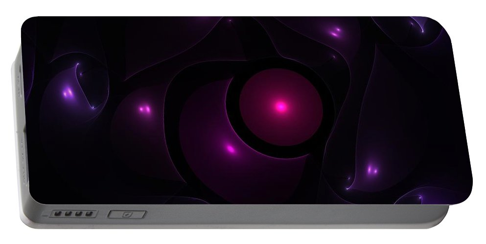 Abstract Portable Battery Charger featuring the digital art Next To You by Steve K