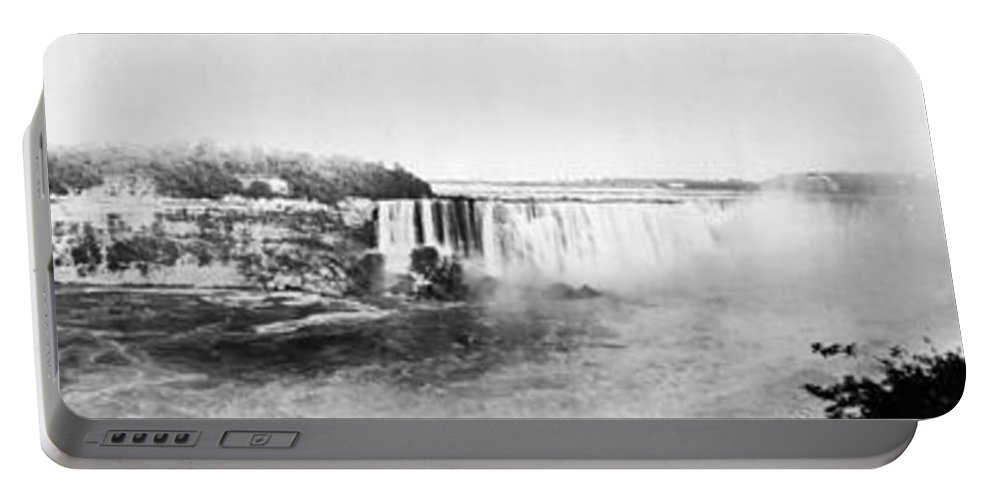 1909 Portable Battery Charger featuring the photograph Niagara Falls, C1909 by Granger