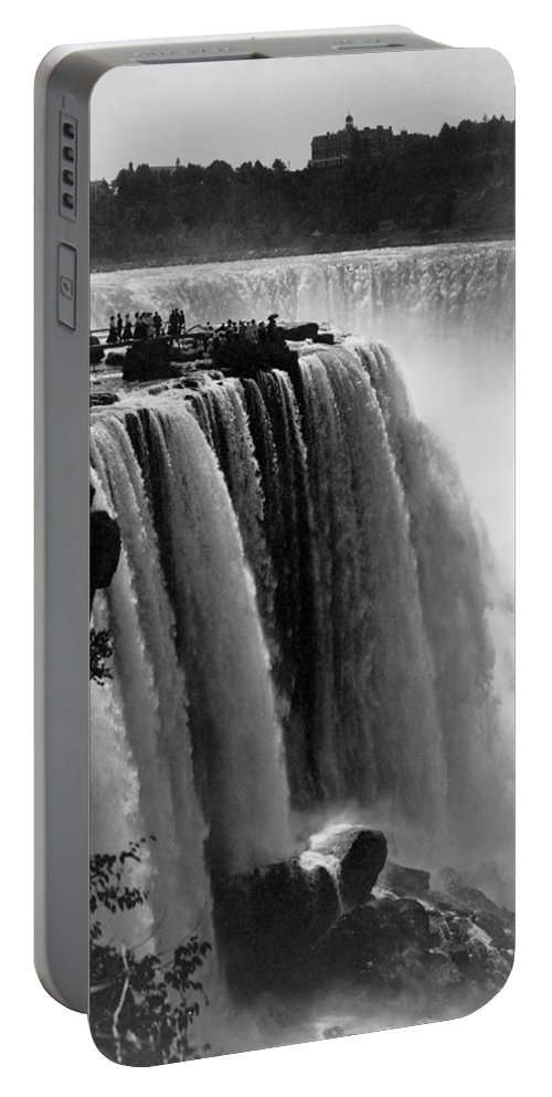 1911 Portable Battery Charger featuring the photograph Niagara Falls, C1911 by Granger