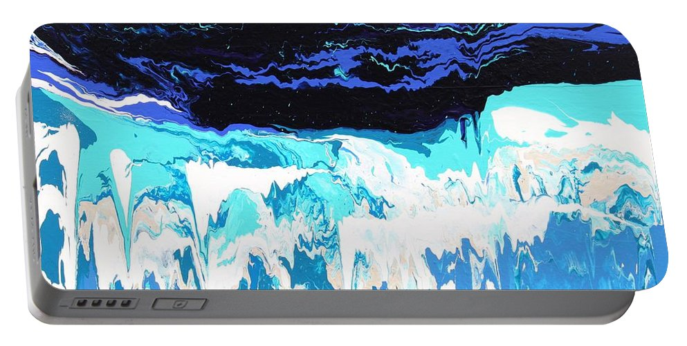 Fusionart Portable Battery Charger featuring the painting Niagara by Ralph White