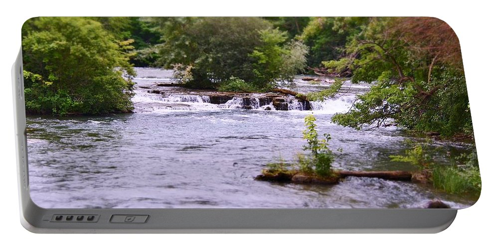 Niagara River Portable Battery Charger featuring the photograph Niagara River by Jennifer Craft