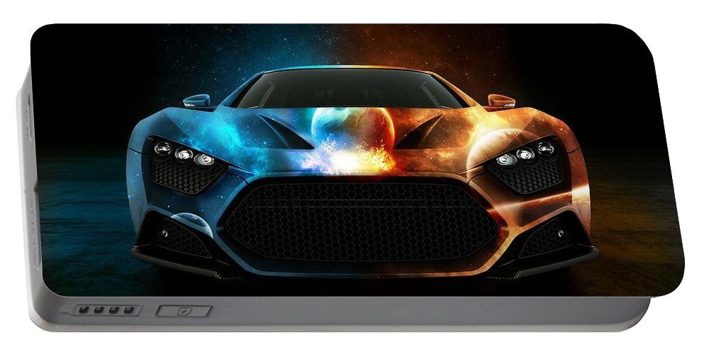 Nice Car 3d Portable Battery Charger featuring the digital art Nice Car by Duyet Ha Lich