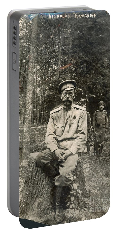 1917 Portable Battery Charger featuring the photograph Nicholas II (1868-1918) by Granger