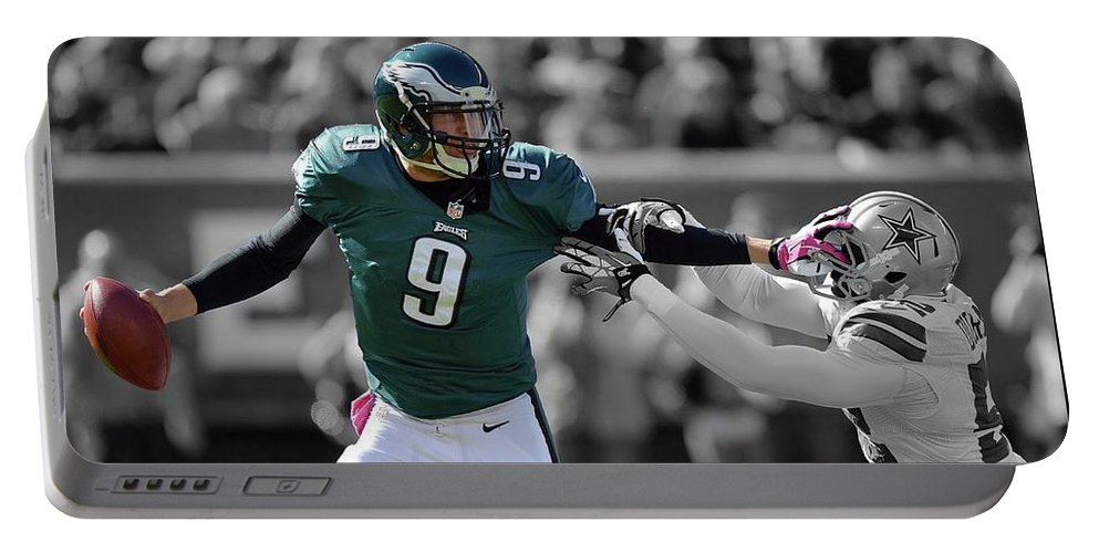Nick Foles Portable Battery Charger featuring the photograph Nick Foles Eagles Super Bowl 2 by Movie Poster Prints