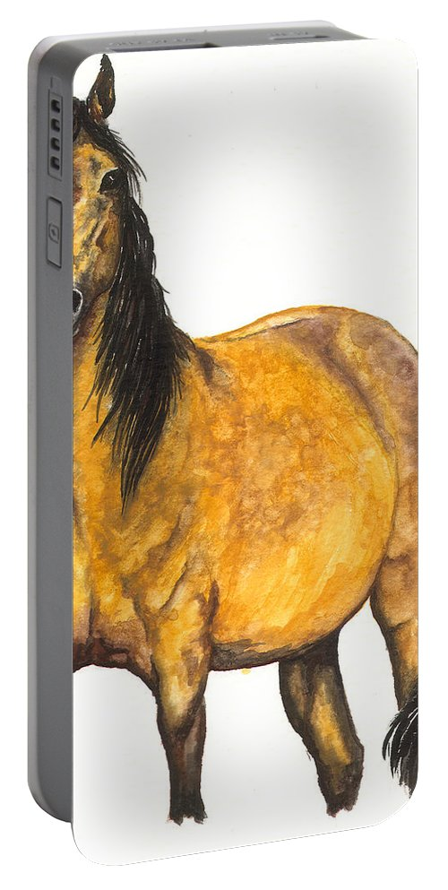 Horse Portable Battery Charger featuring the painting Nifty by Kristen Wesch