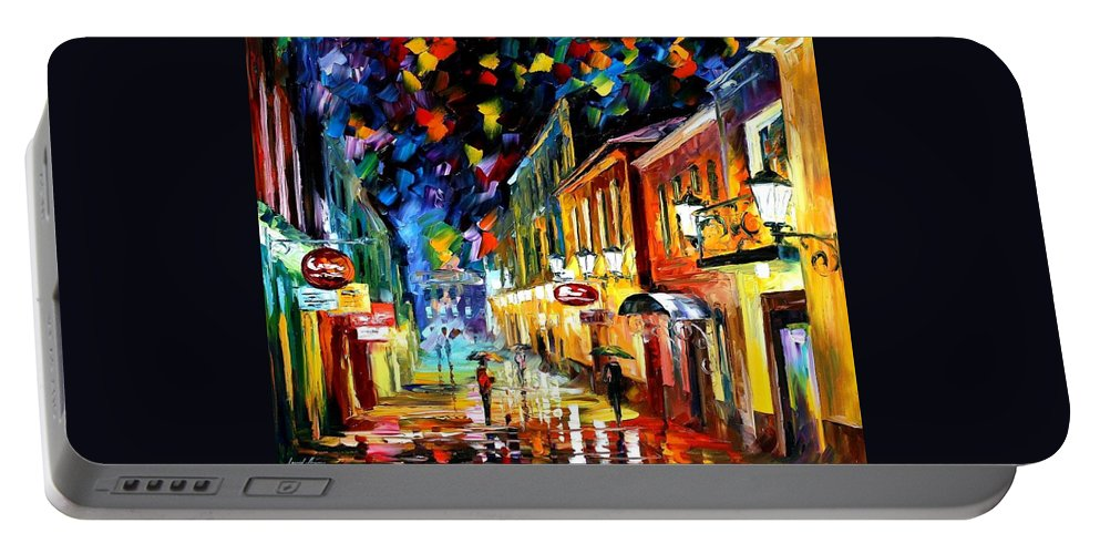 Afremov Portable Battery Charger featuring the painting Night Etude by Leonid Afremov