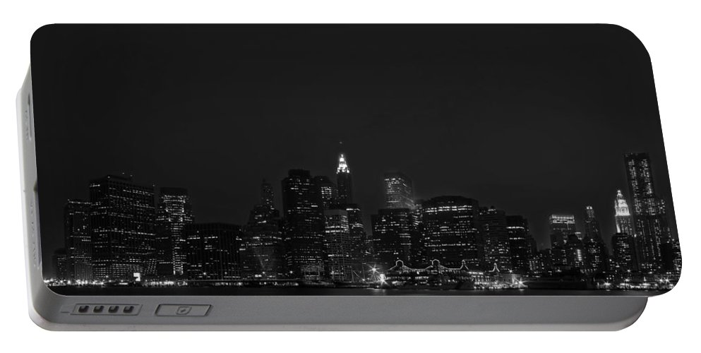 Bridge Portable Battery Charger featuring the photograph Night Lights by Evelina Kremsdorf