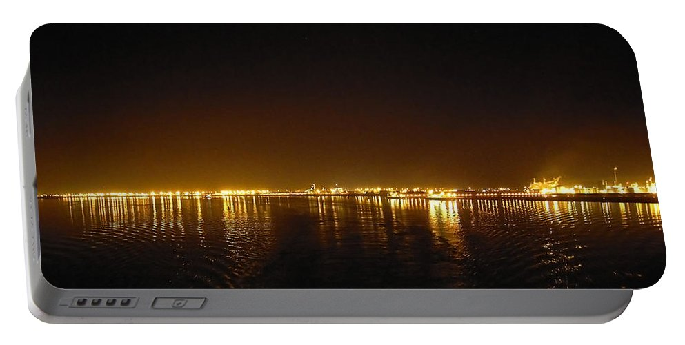 Night Portable Battery Charger featuring the photograph Night Lights by Svetlana Sewell