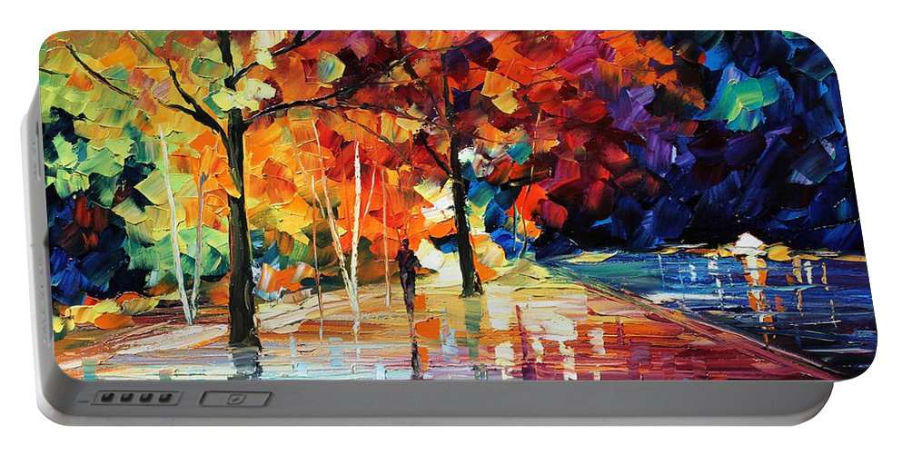 Afremov Portable Battery Charger featuring the painting Night New Original by Leonid Afremov