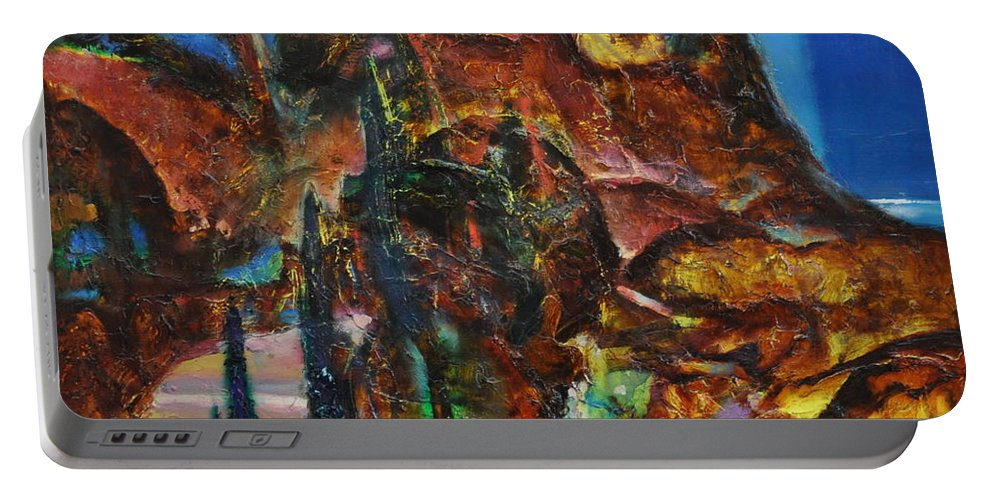Ignatenko Portable Battery Charger featuring the painting Night Serpentine by Sergey Ignatenko