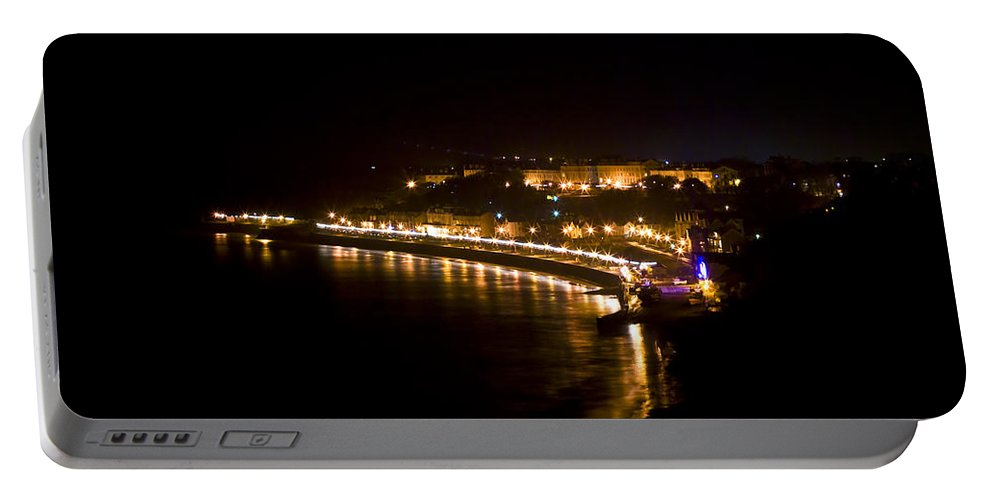 Night Portable Battery Charger featuring the photograph Night Town by Svetlana Sewell
