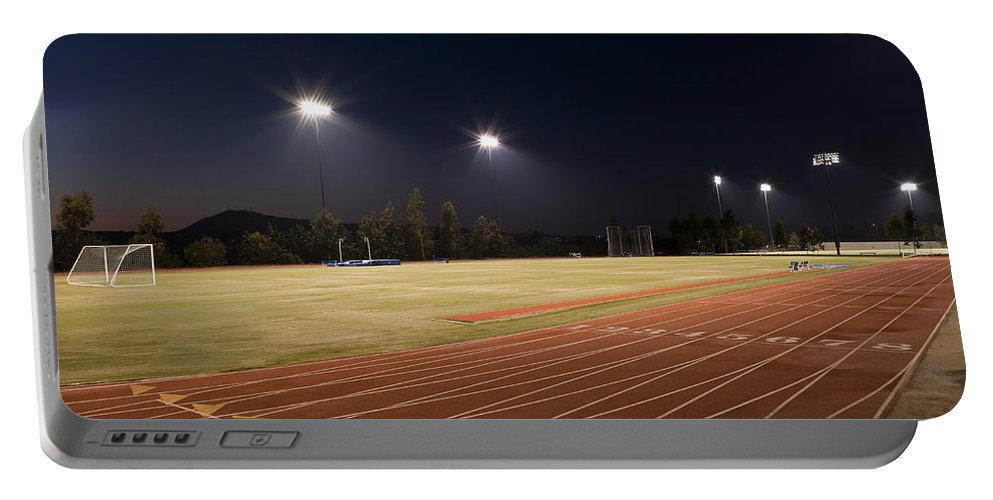Sports Portable Battery Charger featuring the photograph Night Training by Kelley King
