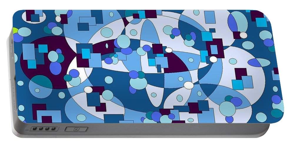Digital Artwork Portable Battery Charger featuring the digital art Nightall by Jordana Sands