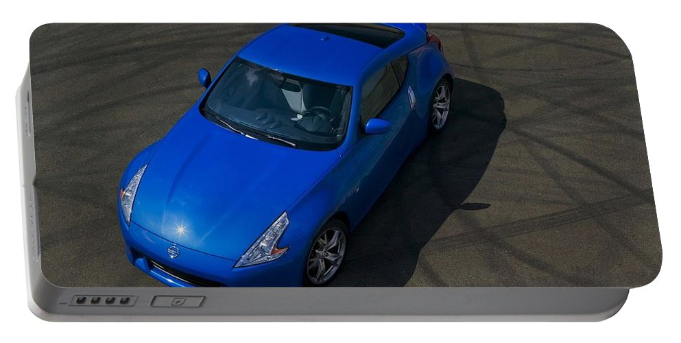 Nissan 370z Coupe 2012 Portable Battery Charger featuring the digital art Nissan 370z Coupe 2012 by Mery Moon