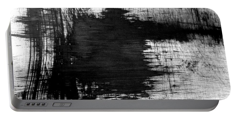 Portable Battery Charger featuring the painting No Color Needed 6 by LaDara McKinnon