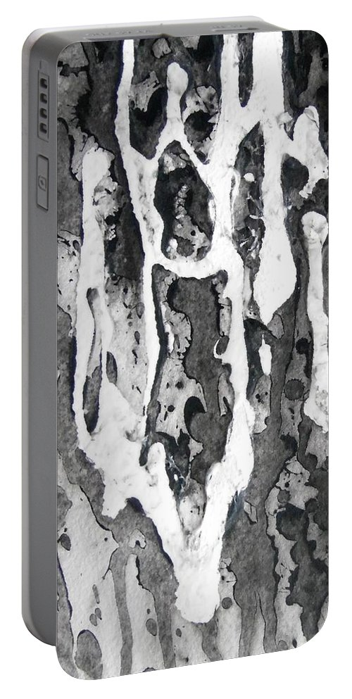 Portable Battery Charger featuring the painting No Color Needed 7 by LaDara McKinnon