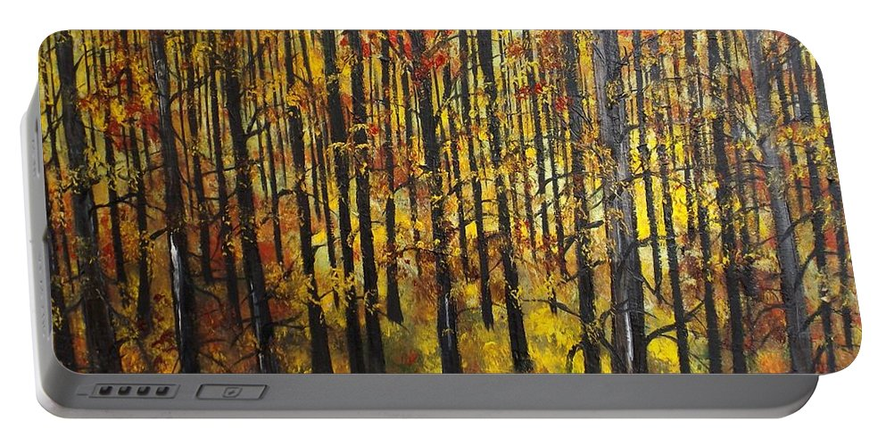 Landscape Portable Battery Charger featuring the painting No Doubt In My Mind by Lisa Aerts