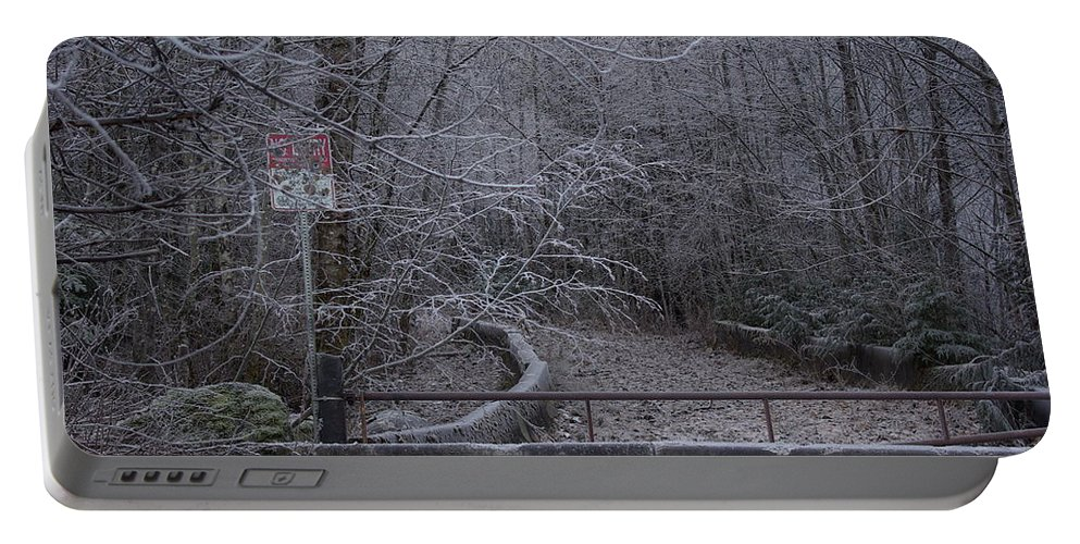No Portable Battery Charger featuring the photograph No Entry by Cindy Johnston