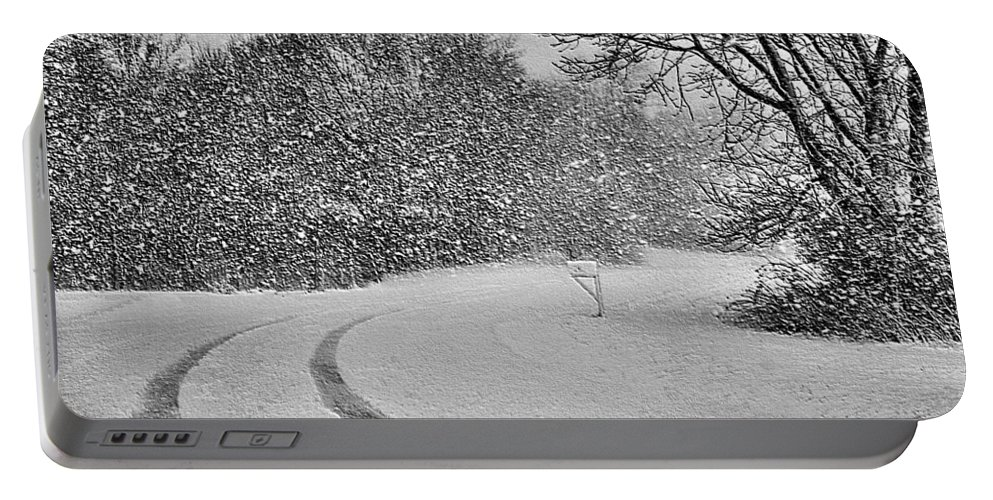 Snow Portable Battery Charger featuring the photograph No Mail Today by Kristin Elmquist