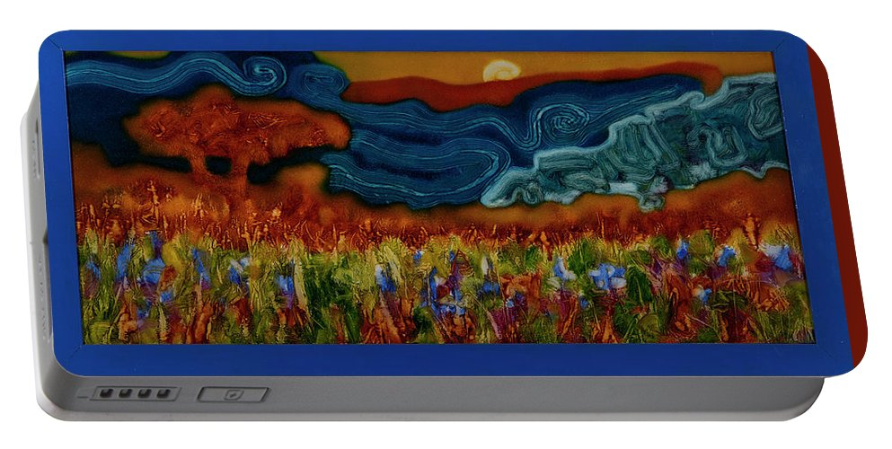 Abstract Art Portable Battery Charger featuring the painting No Name 92 by Taras Tryndyk
