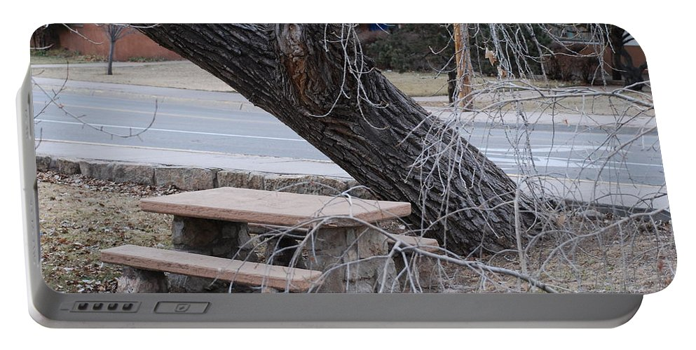 Trees Portable Battery Charger featuring the photograph No One Sits Here by Rob Hans