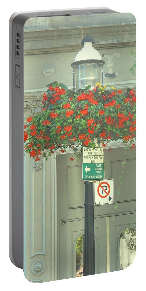 Portable Battery Charger featuring the photograph No Parking by Ian MacDonald