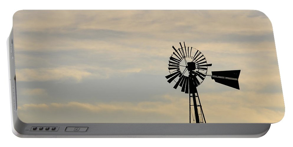 Windmill Portable Battery Charger featuring the photograph No Rotation by David Arment
