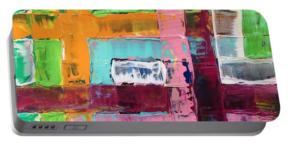 Painting Portable Battery Charger featuring the painting No Title by Joao Alves