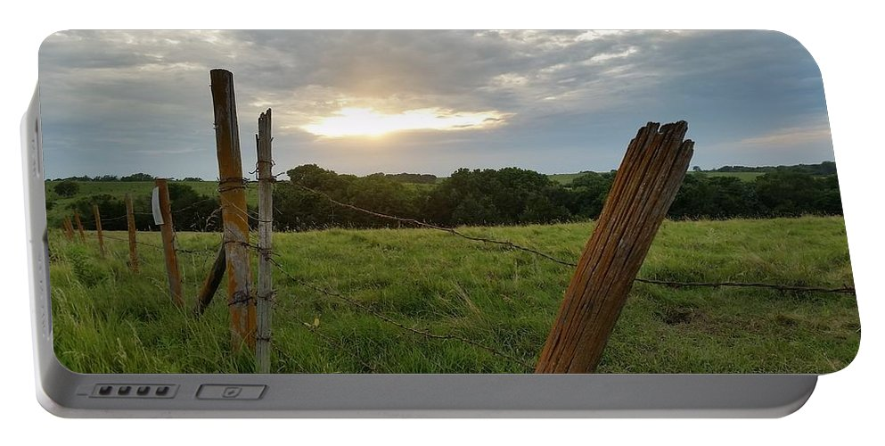 Country Portable Battery Charger featuring the photograph No Tresspassing by Caryl J Bohn