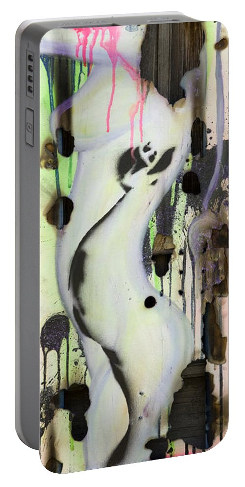 Woman Portable Battery Charger featuring the painting No Winners In Love by Sheridan Furrer