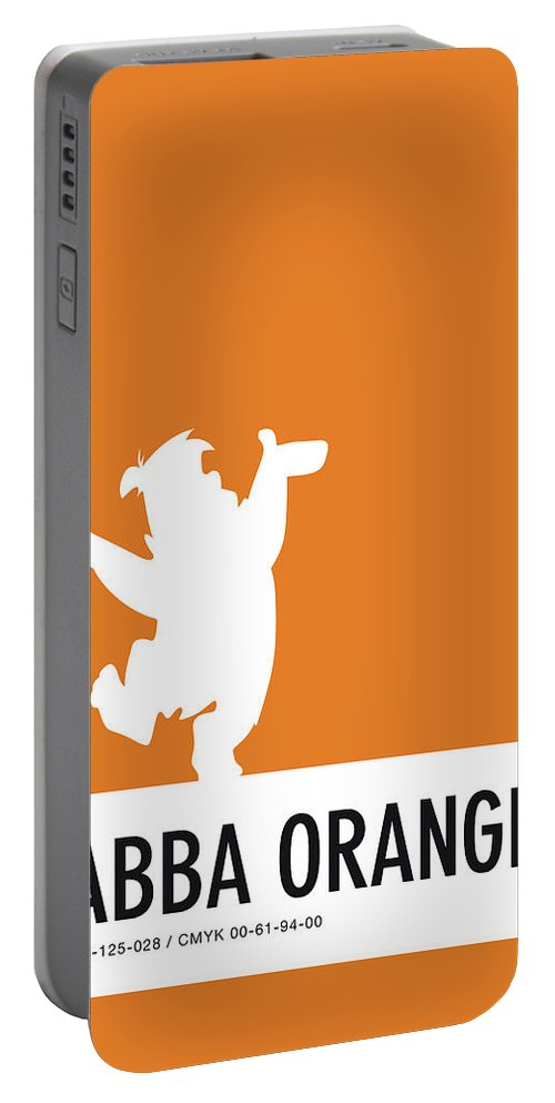Looney Portable Battery Charger featuring the digital art No04 My Minimal Color Code Poster Fred Flintstone by Chungkong Art
