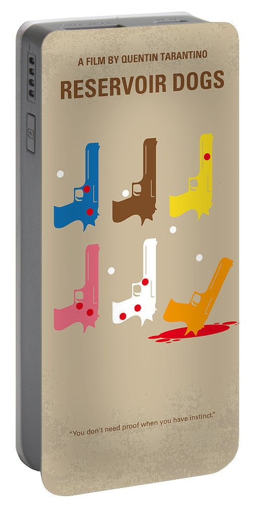 Reservoir Portable Battery Charger featuring the digital art No069 My Reservoir Dogs Minimal Movie Poster by Chungkong Art