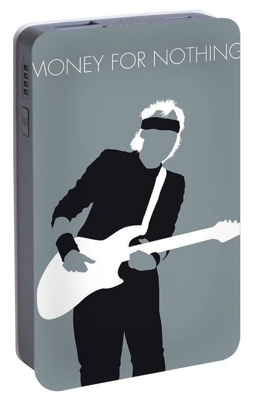 Mark Portable Battery Charger featuring the digital art No107 My Mark Knopfler Minimal Music Poster by Chungkong Art