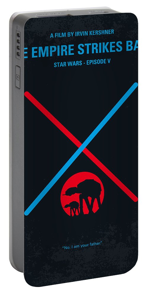 Star Portable Battery Charger featuring the digital art No155 My Star Wars Episode V The Empire Strikes Back Minimal Movie Poster by Chungkong Art