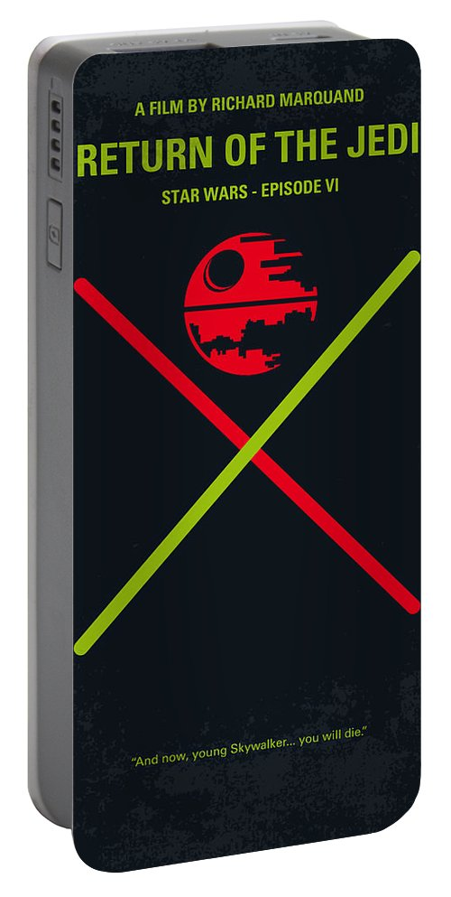 Star Portable Battery Charger featuring the digital art No156 My STAR WARS Episode VI Return of the Jedi minimal movie poster by Chungkong Art