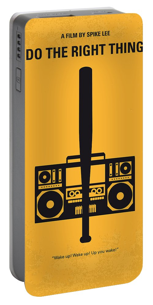 Do The Right Thing Portable Battery Charger featuring the digital art No179 My Do the right thing minimal movie poster by Chungkong Art
