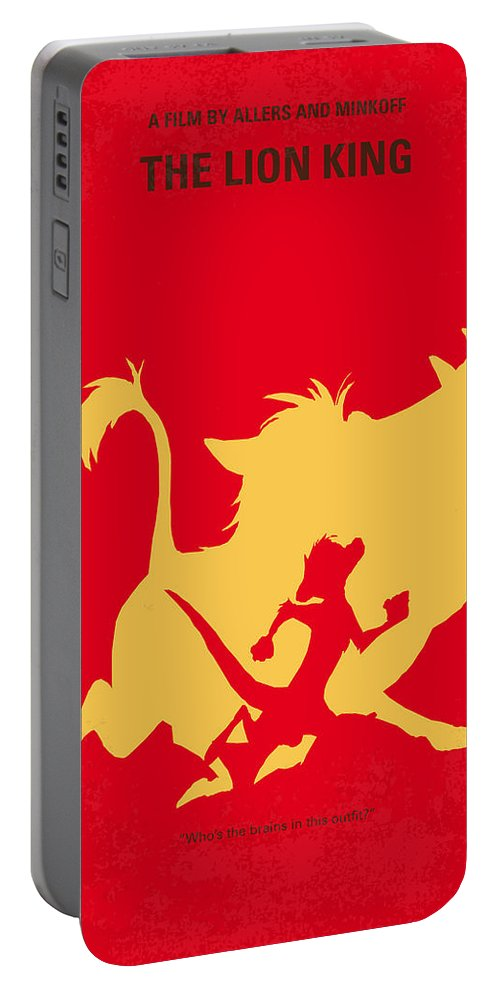 Lion Portable Battery Charger featuring the digital art No512 My The Lion King Minimal Movie Poster by Chungkong Art
