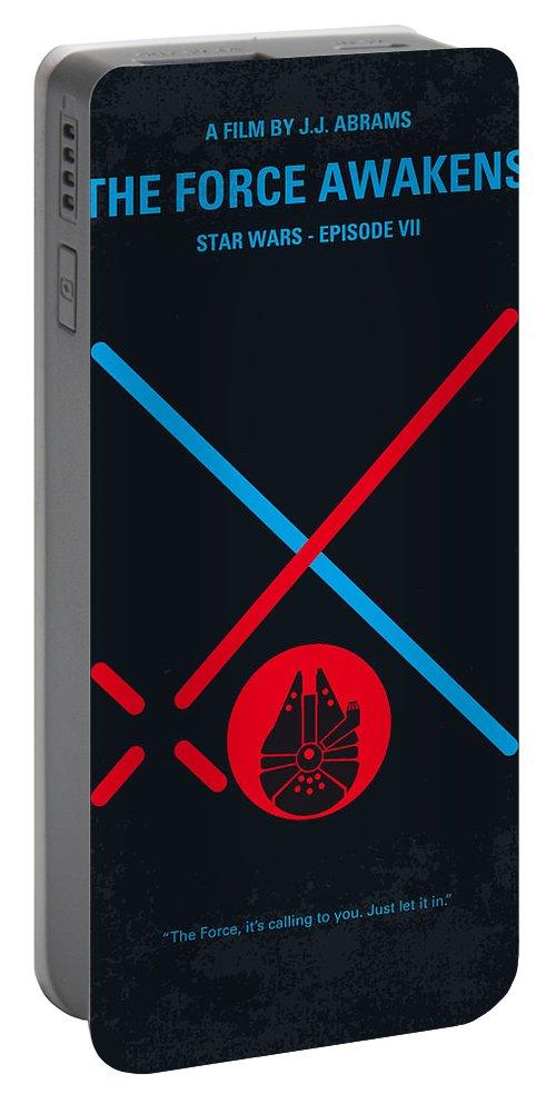 Star Portable Battery Charger featuring the digital art No591 My Star Wars Episode Vii The Force Awakens Minimal Movie Poster by Chungkong Art