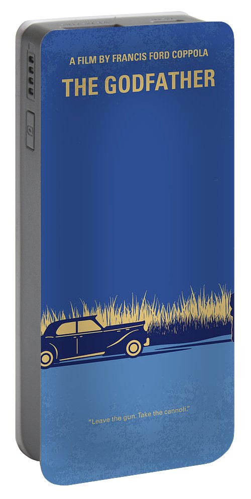 The Portable Battery Charger featuring the digital art No686-1 My Godfather I minimal movie poster by Chungkong Art