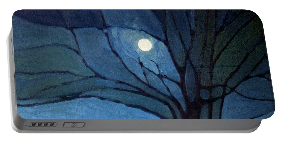 Moonrise Portable Battery Charger featuring the painting Nocturne 71 by Donald Maier