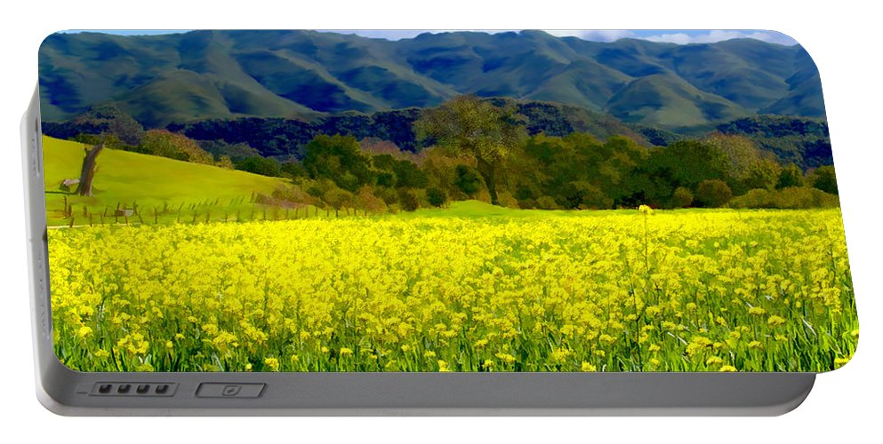 Flowers Portable Battery Charger featuring the photograph Nojoqui Ranch by Kurt Van Wagner