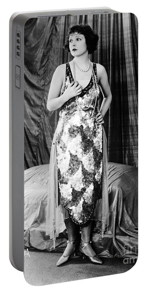 Norma Talmadge Portable Battery Charger featuring the photograph Norma Talmadge by Sad Hill - Bizarre Los Angeles Archive